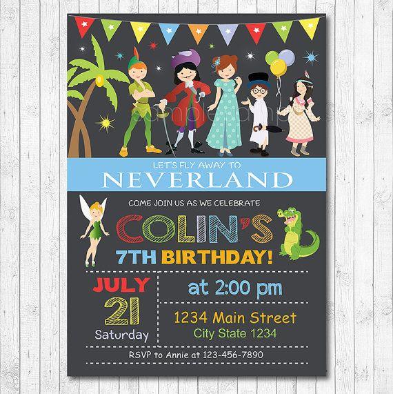 Neverland Invitation Neverland Invite Neverland by funkymushrooms