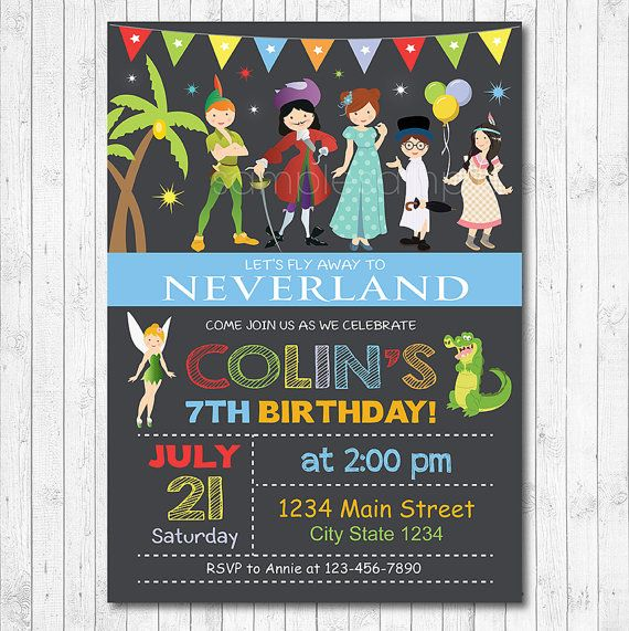 Neverland Invitation Neverland Invite Neverland by funkymushrooms