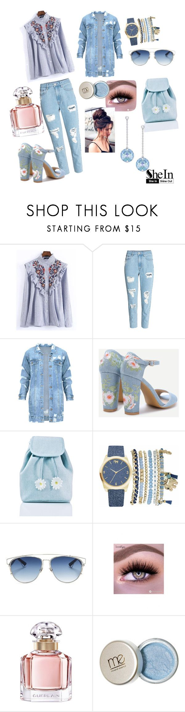 """Untitled #148"" by bosniamode ❤ liked on Polyvore featuring WithChic, Sugarbaby, Mixit, Christian Dior, Guerlain and Swarovski"