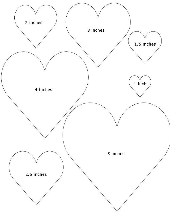It is a picture of Printable Heart Template intended for editable