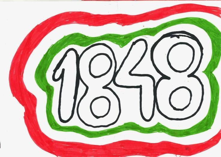 1848. március 15. Iskolai dekoráció.