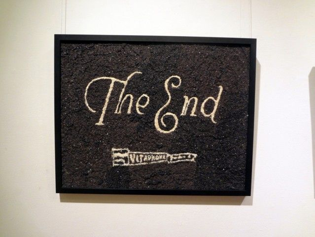The End (Dr. Jekyll and Mr. Hyde) | 2012 | Black and white sesame seeds, adhesive | Tara Bursey