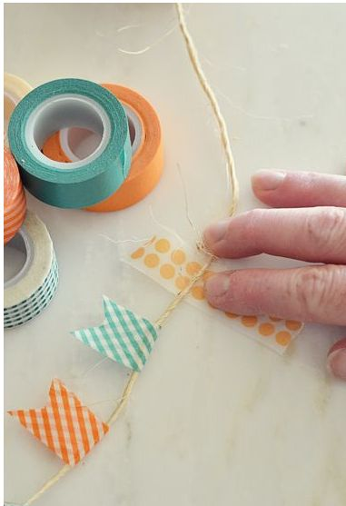 Washi tape pennant banners?  Yes please!!!