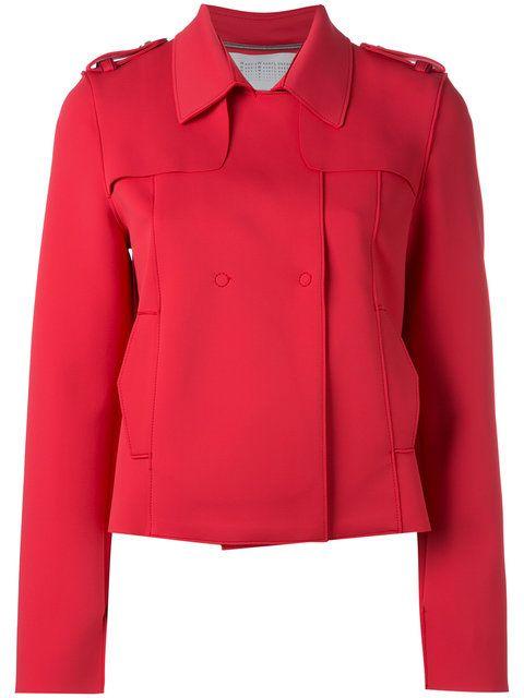HARRIS WHARF LONDON Concealed Placket Jacket. #harriswharflondon #cloth #jacket