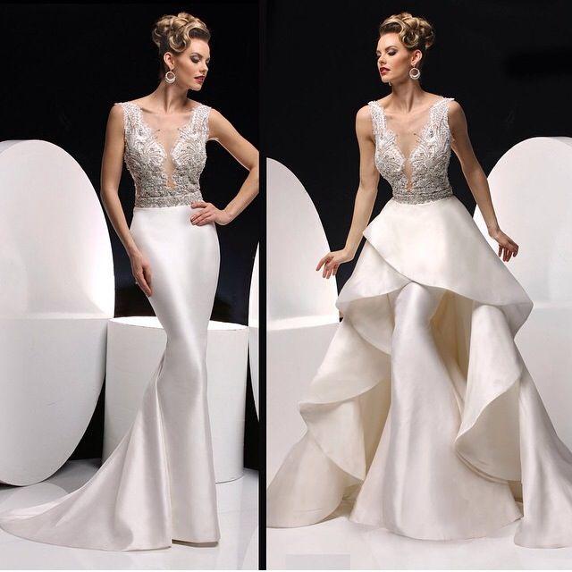 Detachable Wedding Gown: Detachable Skirt Wedding Dress. Convertible Dress