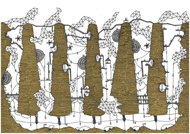 Italo Calvino's 'Invisible Cities', Illustrated,Isaura. Image © Karina Puente Frantzen