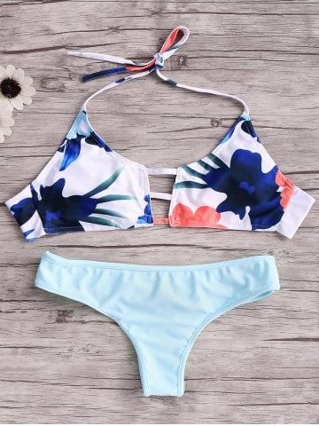 Shop for Blue M Cut Out Halter Top Bikini Set online at $9.05 and discover fashion at RoseGal.com Mobile