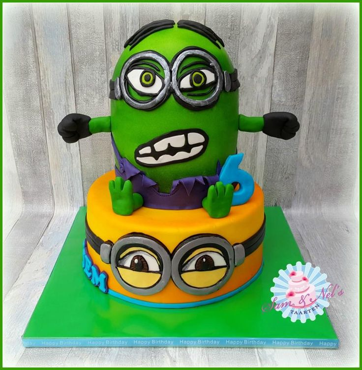 Minion Hulk - Cake by Sam & Nel's Taarten