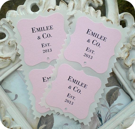 Items similar to pink favor sticker personalized sticker wedding favor sticker envelope seals custom sticker baby favors baby and co custom label on