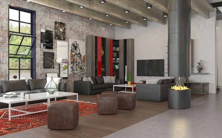 Industrial Element  Living Room  Business Talking Area