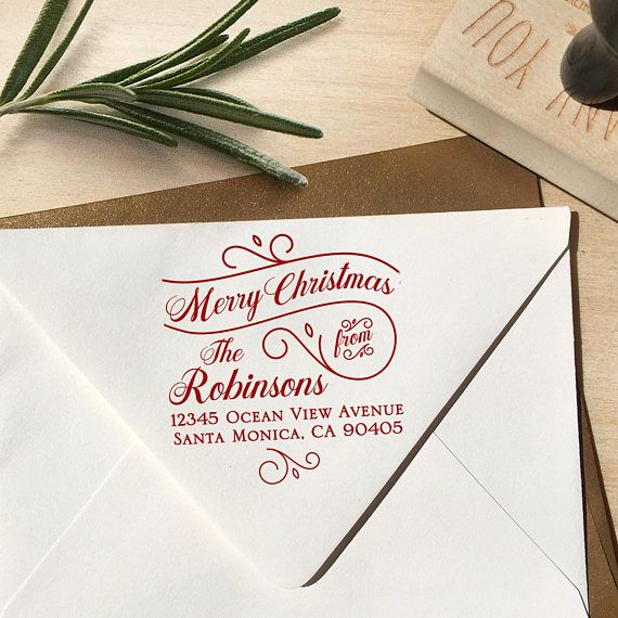 Merry Christmas Address Stamp Christmas Address Stamp Merry