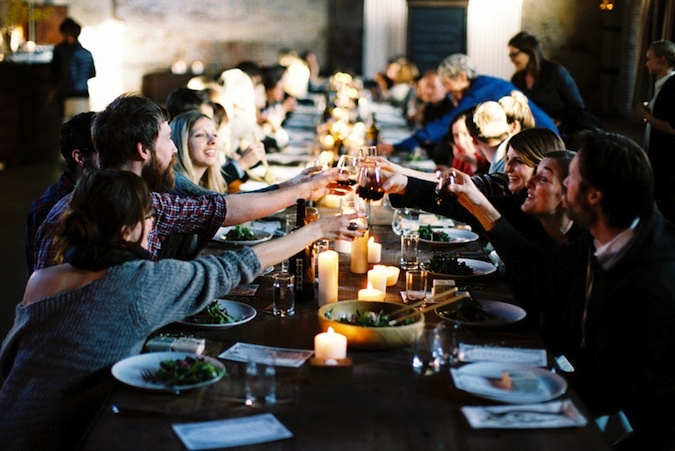 (I love this display of community) andrew and carissa - andrew+carissa - KINFOLK: Friends, Dinners Party, Food, Leo Patrones, Kinfolk Dinners, Kinfolk Magazines, Families, Long Tables, Brooklyn New York