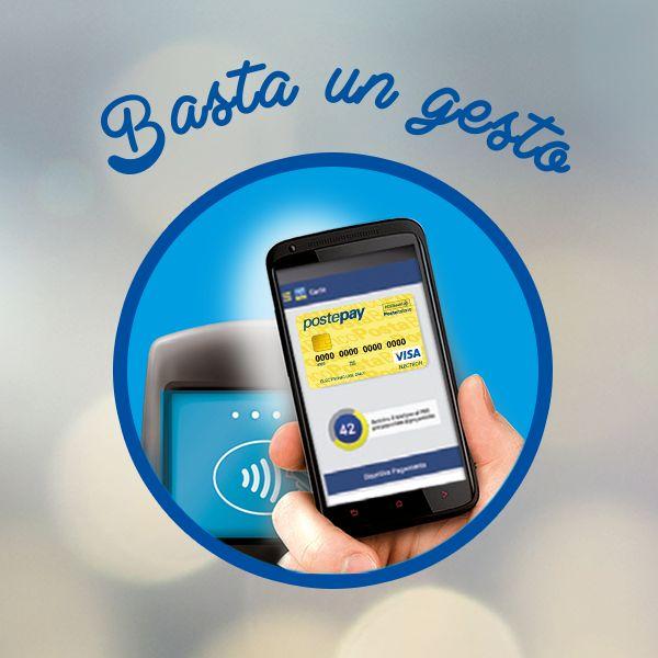 Grazie alla Super SIM NFC e all' App PosteMobile il tuo smartphone diventa un vero e proprio portafoglio virtuale per pagare in tutti i punti vendita abilitati semplicemente avvicinando il telefono al POS #bastaungesto!  Scopri come associare il tuo strumento di pagamento alla SIM NFC e gli altri dettagli http://www.postemobile.it/app-e-servizi/nfc  #SuperSIM #NFC #Bastaungesto