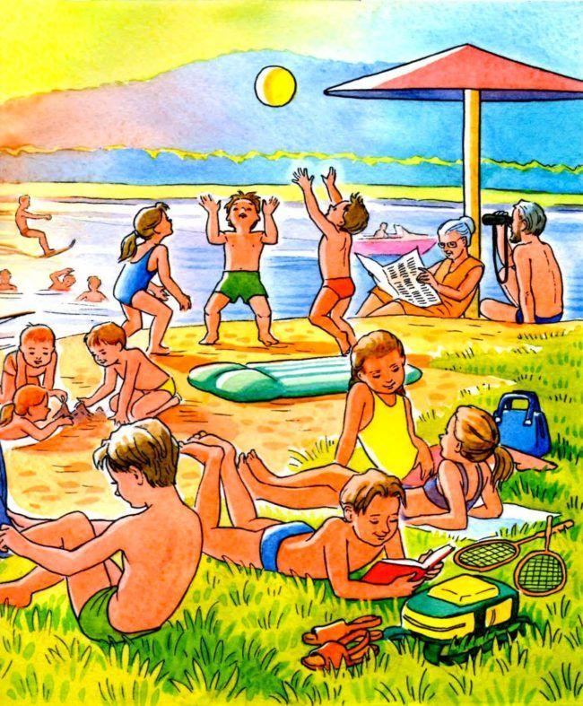 """Картинки для детей на тему """"Лето"""" для занятий в детском ..."""