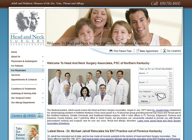 Pin by Medical Website Design on Otolaryngology ENT