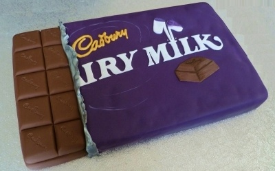 Cadbury Dairy Milk Chocolate Bar Cake