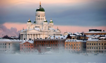 Helsinki on winter time