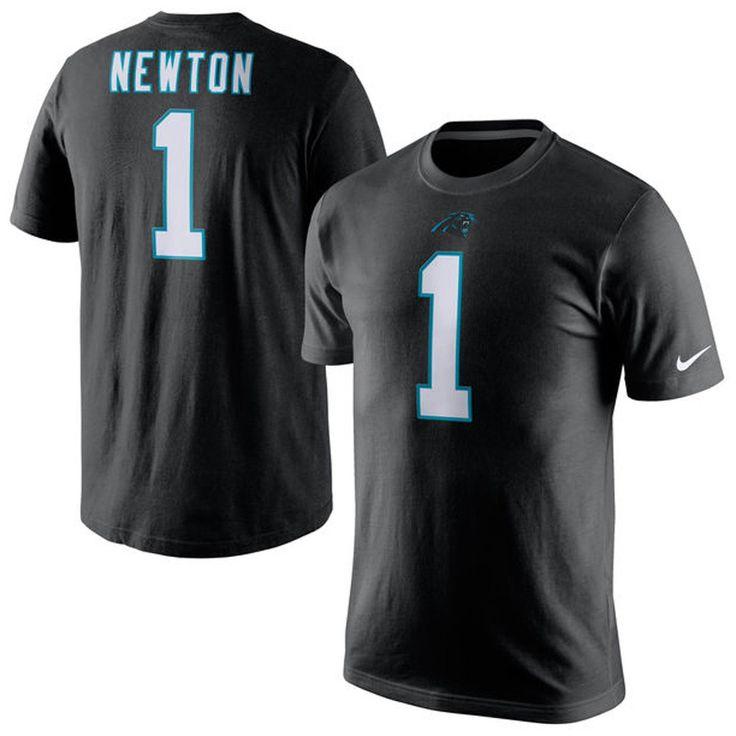 Nike NFL CAROLINA PANTHERS Cam Newton #1 Mens Black Jersey T-Shirt
