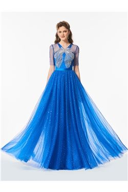Spring Prom All Sizes Button Short Sleeves Winter Summer A-line Dress