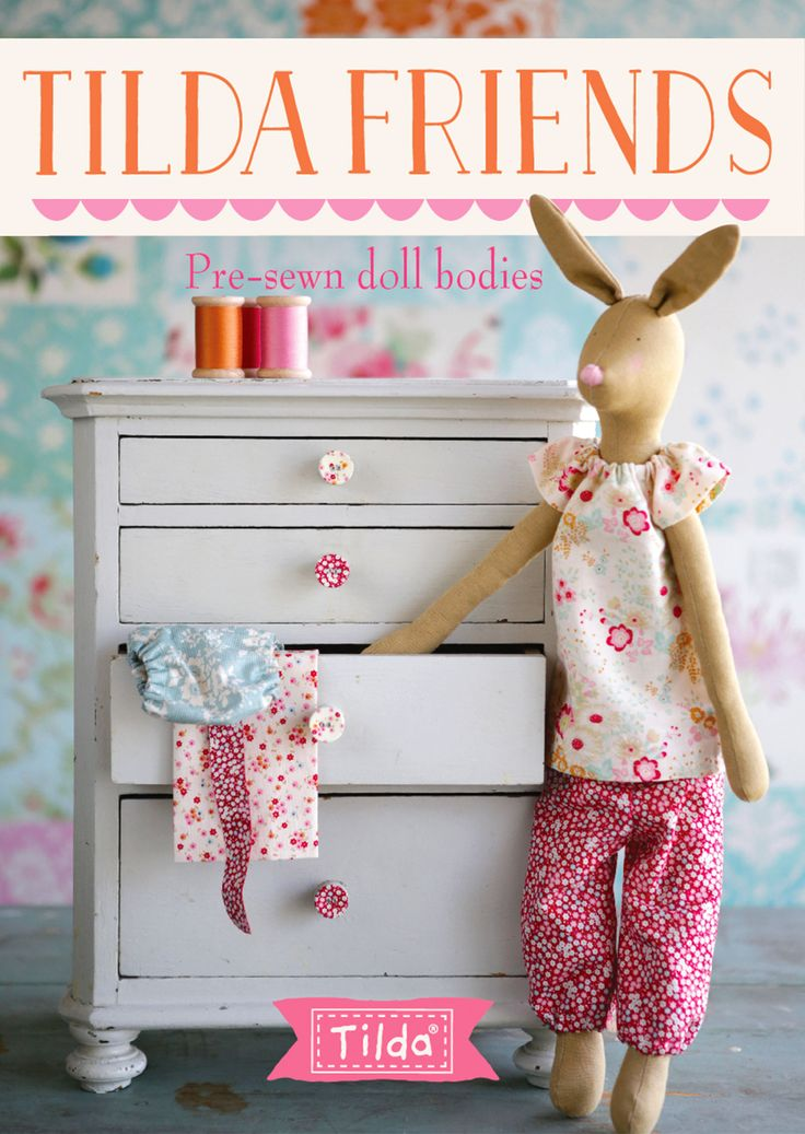 ♥ Tilda's World ~ Tilda's Friends ~ 2 of the beloved Tilda characters, a fox and a rabbit, will be available as lovely pre-sewn dolls in August 2016. ♥