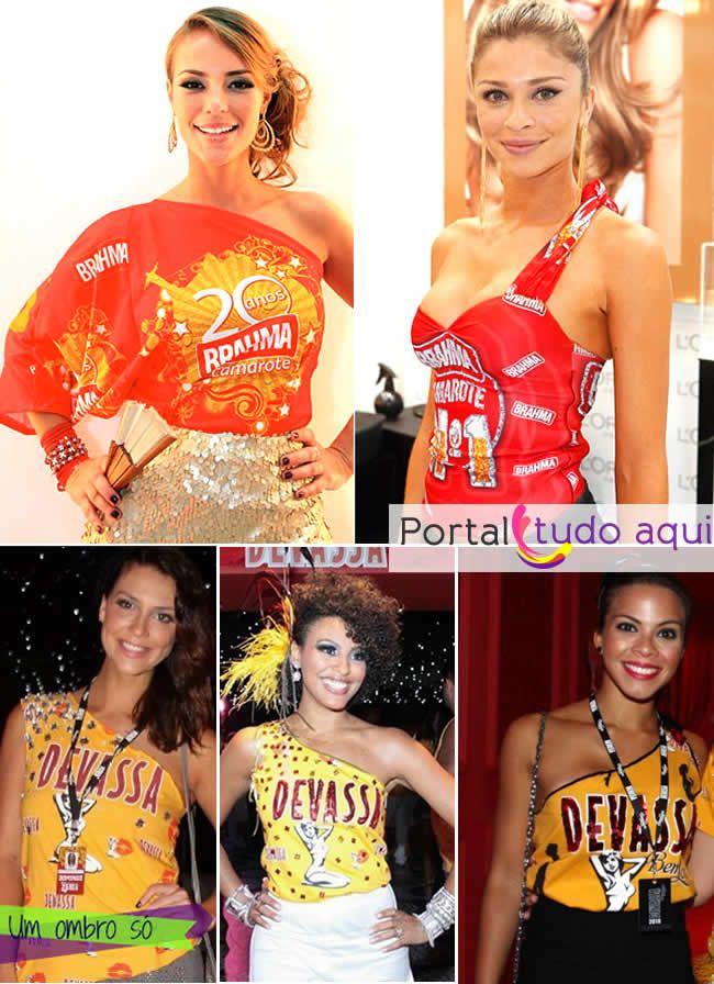 Abadás (ombro só) das famosas para o carnaval 2014.