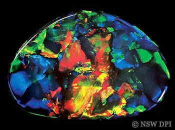 opals australia | black opal from Lightning Ridge know as the Red Heart of Australia ...