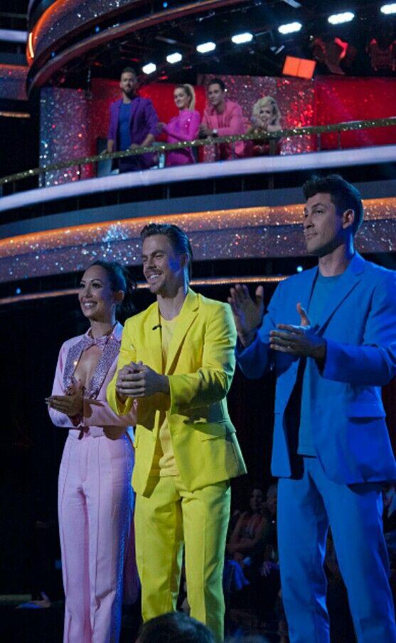 Cheryl, Derek, and Maks DWTS