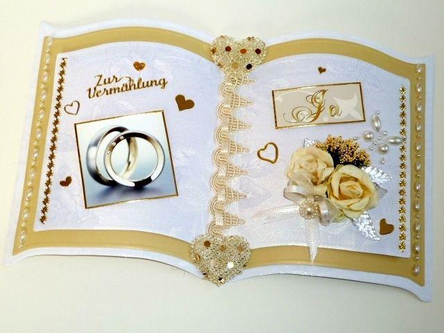 Moderne Hochzeitskarte / Buchkarte Nr. 384 von *M&M Bastelparadies* auf DaWanda.com