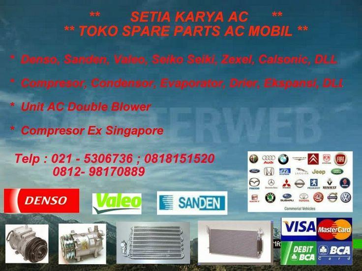 Spare Parts AC Mobil : Toko Spare Parts AC Mobil Setia Karya AC