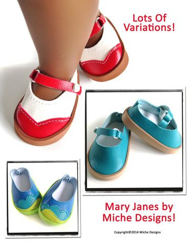 "OMG too cute Mary Janes 18"" Doll Shoes"