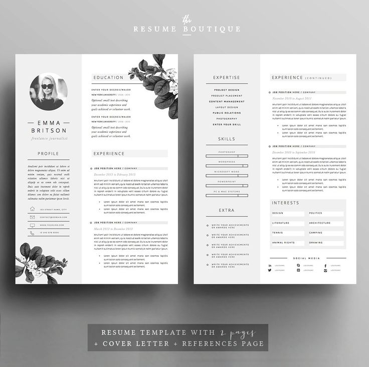 69 best resumes images on pinterest