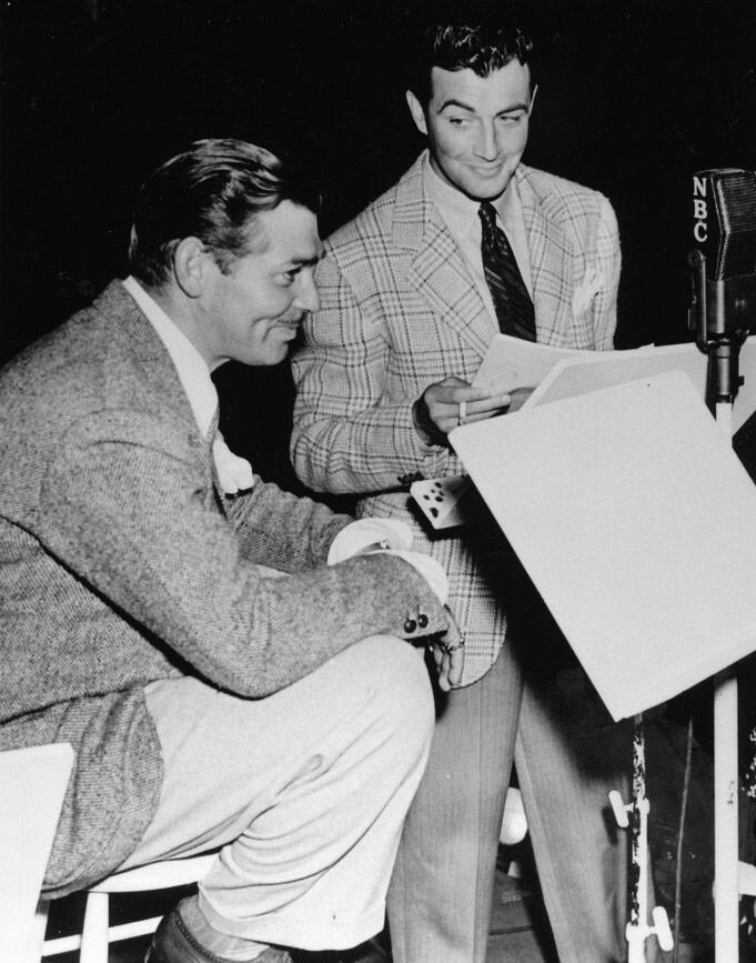 Gable with Robert Taylor