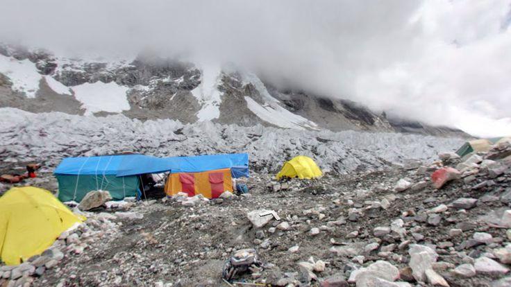 Latitude: 27.816667 (27° 49' 0.00'' N) Longitude: 86.716667 (86° 43' 0.00'' E)  #Mount #Everest #BaseCamp #Nepal #StreetView #Travel #Landscape