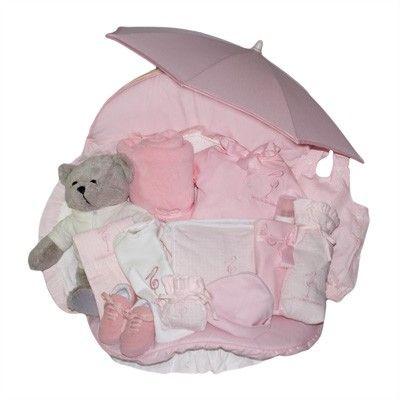 Canastilla Paseo Ensueño. Baby Gift Basket. La Cigueña del Bebe;