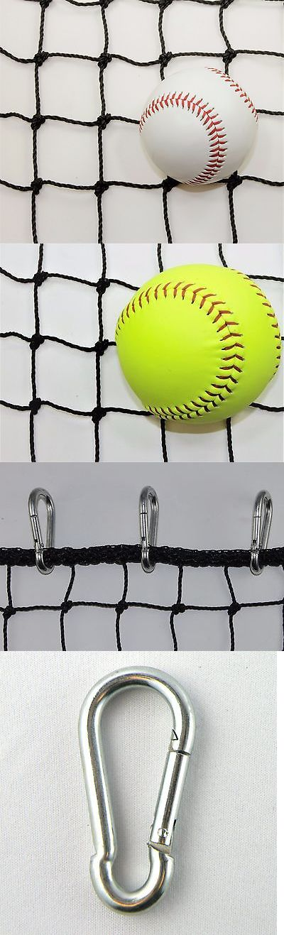 Batting Cages and Netting 50809: #42 -12 X 30 Baseball Barrier Net Panel, Rope Bordered W 15 Steel Carabiner -> BUY IT NOW ONLY: $68 on eBay!