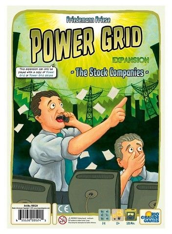 Rio Grande Games Power Grid: The Stock Companies Board Game Expansion