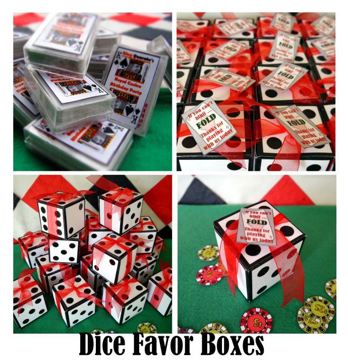 Gambling theme party favors