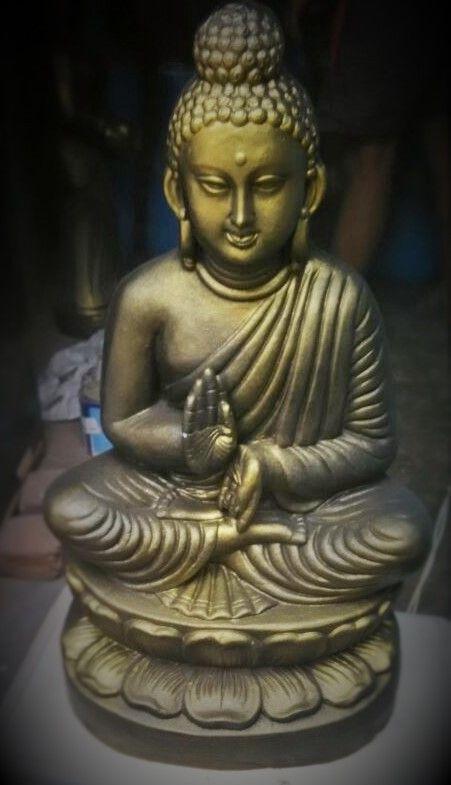 Terracotta Golden Black Buddha - KABCHI'S HOMEWARES