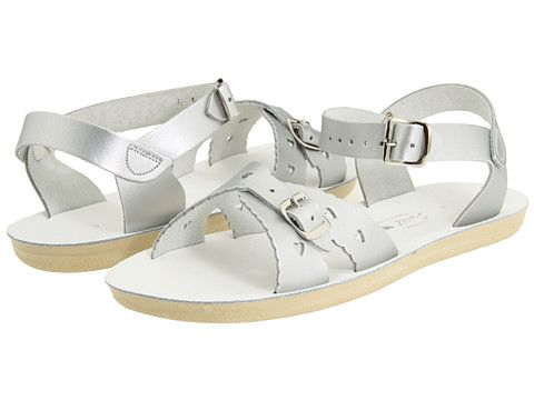 $35.  salt Water Sandal by Hoy Shoes Sun-San - Sweetheart (Toddler/Little Kid) Silver - Zappos.com Free Shipping BOTH Ways