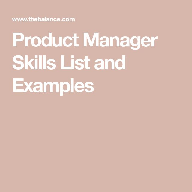 Product Manager Skills List and Examples