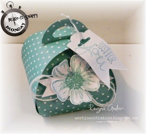 Card Stock: Whisper White Stamp Sets: Flower Shop, Work of Art Ink: Coastal Cabana Punches: Pansy, Scalloped Tag Topper Accessories: White Baker's twine, In Color 2013-2015 DSP Stack