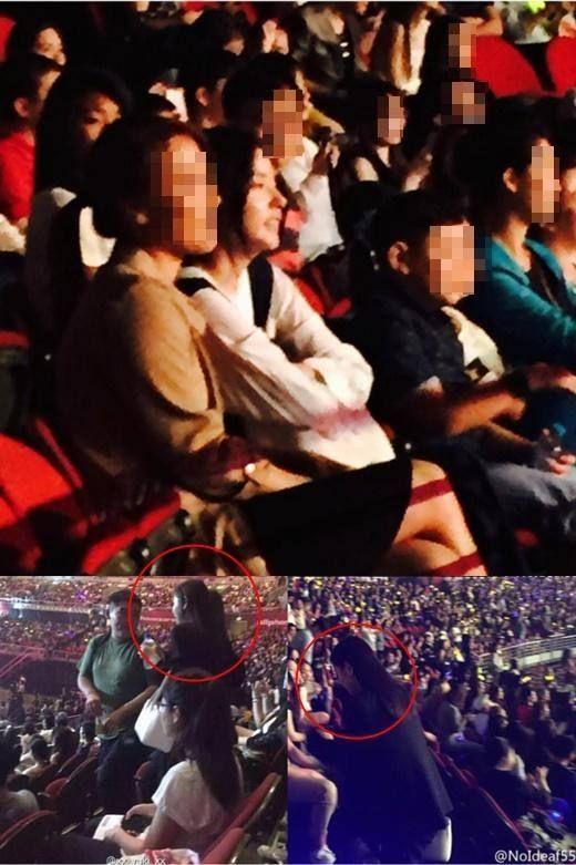 Min Hyorin enjoying the BIGBANG [MADE] show in Sydney!
