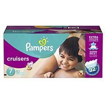 Pampers Cruisers Economy Pack, Size 7 (92 ct.)