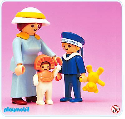Playmobil - 5406 - Mother With Children (1990-93)