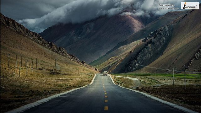 landscapes lonely mountains roads path way to heaven | Flickr - Photo Sharing!