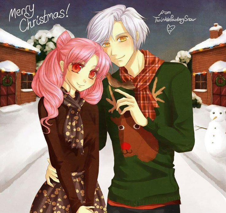 Happy Christmas from Chibiusa and Helios