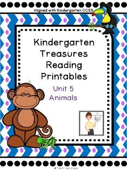 Here are 121 pages of printables, activities, games, etc to supplement your Kindergarten Unit 5 Treasures Reading Program.  This package was designed for the 2011 Treasures Edition.  If you teach another edition, please be aware that some of the stories or skills may different or altered.