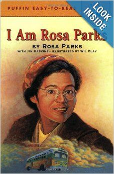 I Am Rosa Parks (Penguin Young Readers, L4): Rosa Parks, Jim Haskins, Wil Clay: When Rosa Parks refused to give up her seat on a bus to a white man on December 1, 1955, she made history. Her brave act sparked the Montgomery, Alabama bus boycott and brought the civil rights movement to national attention. In simple, lively language, Rosa Parks describes her life from childhood to the present and recounts the events that shook the nation. Her story is powerful, inspiring and unforgettable.