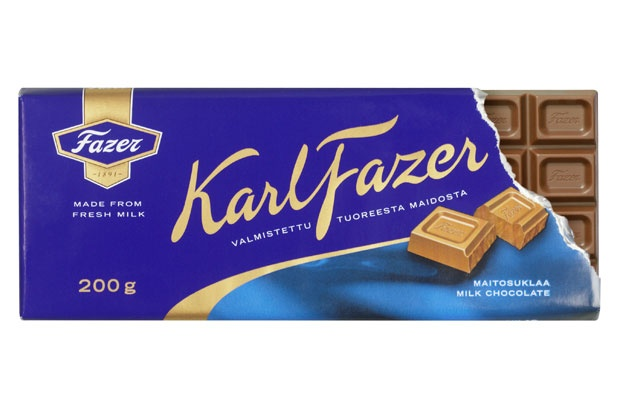 "Fazer milk chocolate. ""BLUE CHOCOLATE"" as my family calls it."