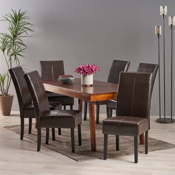37+ Leather dining room chairs set of 6 Trend